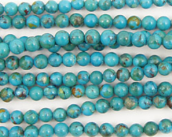 Chinese Turquoise (stab.) Round 4mm