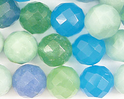 Blue Quartz (rainbow) Faceted Round 12mm