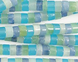 Blue Quartz (rainbow) Heishi 6mm