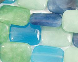 Blue Quartz (rainbow) Thin Pillow 18x13mm