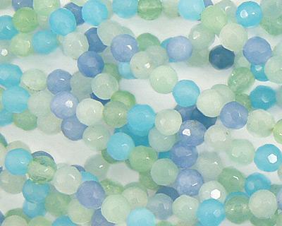 Blue Quartz (rainbow) Faceted Round 4mm