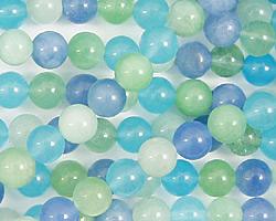 Blue Quartz (rainbow) Round 6mm