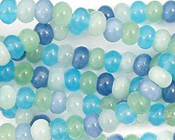 Blue Quartz (rainbow) Rondelle 6mm