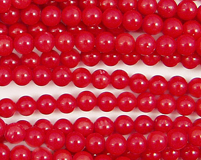 Red Coral Round 4mm