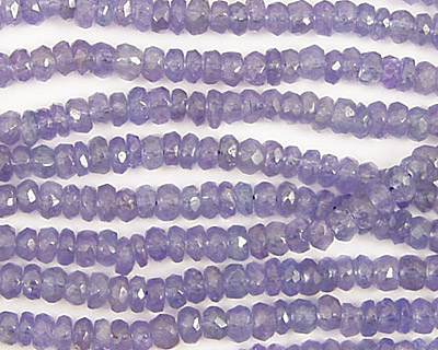 Tanzanite Faceted Rondelle Graduated 3-4mm