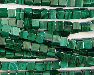 Malachite Cube 4mm