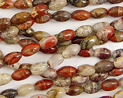Red Silver Leaf Rice 6x4mm