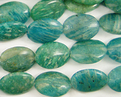 Russian Amazonite Flat Oval 14x10mm