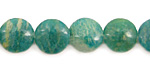 Russian Amazonite Puff Coin 12mm