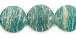 Russian Amazonite Puff Coin 18mm