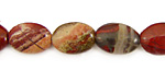 Apple Jasper Flat Oval 14x10mm