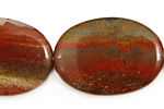 Apple Jasper Flat Oval 35x25mm