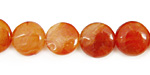 Madagascar Carnelian Puff Coin 12mm