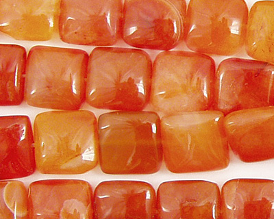 Madagascar Carnelian Puff Square 10mm