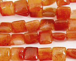 Madagascar Carnelian Puff Square 8mm