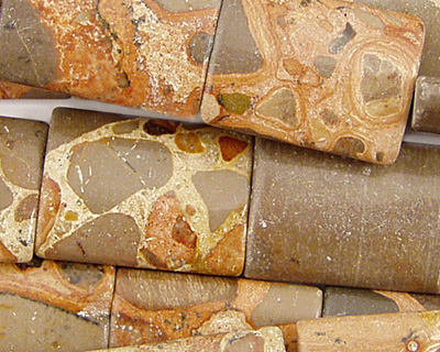 African Brown Rhyolite Thin Pillow 20x15mm
