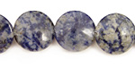 Brazil Sodalite Puff Coin 16mm