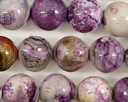 Purple Crazy Lace Agate Round 12mm