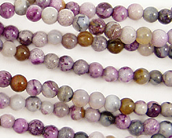 Purple Crazy Lace Agate Round 4mm