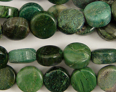 Verdite (dk. green) Puff Coin 10mm
