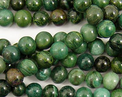 Verdite (dk. green) Round 6mm