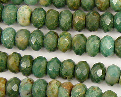 Verdite Faceted Rondelle 8mm