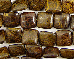 Bronzite Puff Square 10mm