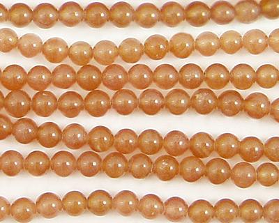 Brown Rhodochrosite Round 4mm