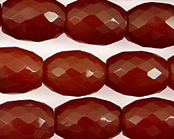 Carnelian Faceted Rice 14-16x12-13mm