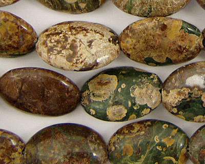 Chinese Ocean Jasper Flat Oval 18x13mm