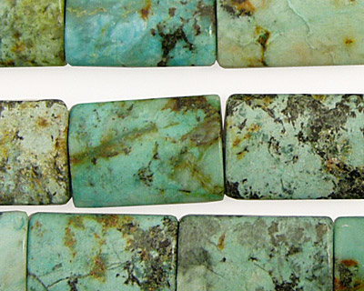 African Turquoise Thin Pillow 18x13mm