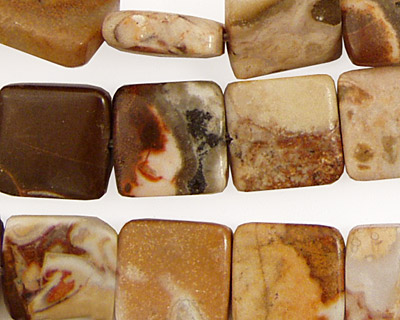 Conglomerate Jasper Flat Square 12mm