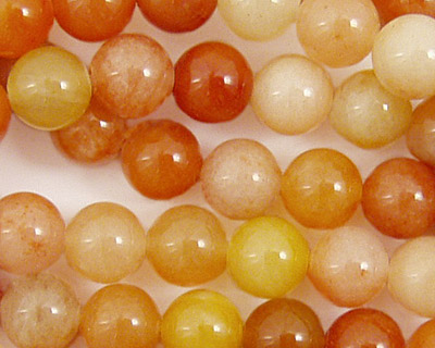 Old Yellow Jade Round 8mm