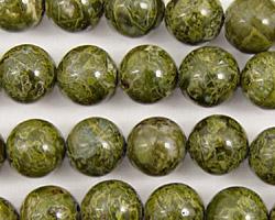 African Green Jasper Round 10mm
