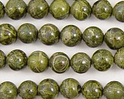 African Green Jasper Round 8mm