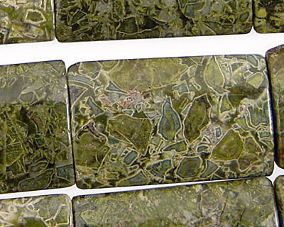 African Green Jasper Thin Pillow 30x20mm