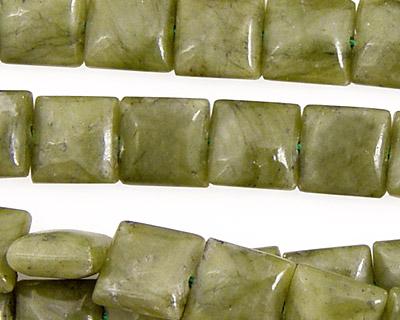 Green Jade Puff Square 10mm