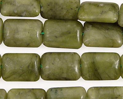 Green Jade Thin Pillow 14x10mm