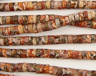 Leopardskin Jasper Heishi 4mm