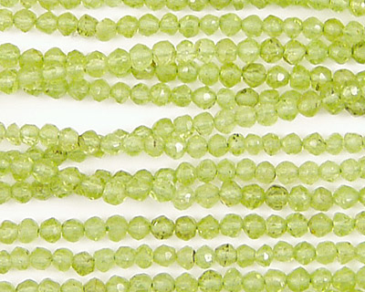 Peridot Faceted Round 3mm