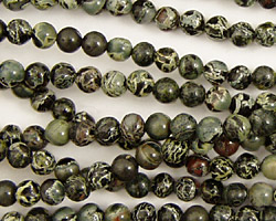 Green Conglomerate Jasper Round 4mm