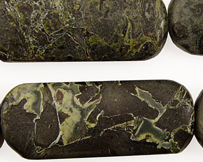 Green Conglomerate Jasper Thin Pillow 40x16mm