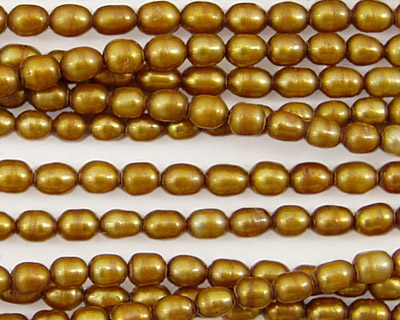 Gold Rice 5-6x4mm