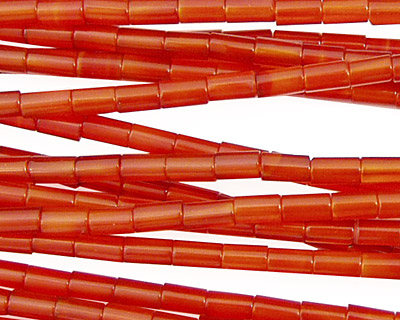 Carnelian Small Tube 5x3mm
