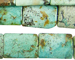 African Turquoise Thin Pillow 20x15mm
