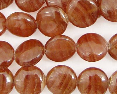 Brown Rhodochrosite Puff Coin 12mm