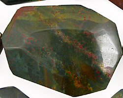 Bloodstone (rich coloring) Faceted Flat Slab 35-45x25-35mm