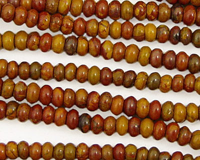 Golden Wooden Jasper Rondelle 4.5mm