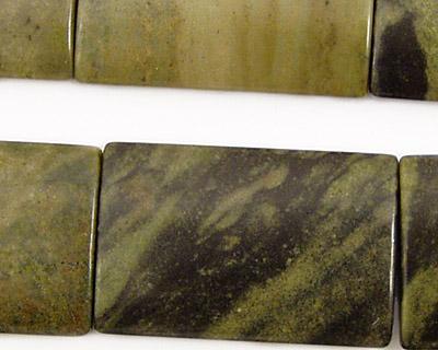 Green Water Jasper Thin Pillow 30x20mm