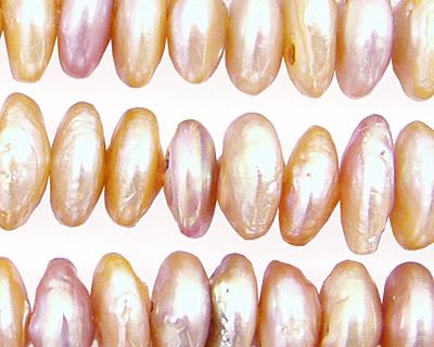 Peach Coin Rondelle 12-12.5mm